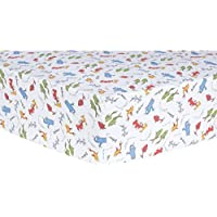 Trend Lab Dr. Seuss One Fish Two Fish Fitted Crib Sheet Red/Green/Blue [並行輸入品]