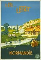 "tx07ヴィンテージ1930のフランスL 'ete L 'etat Normandieノルマンディーフランス旅行ポスターre-print–4異なるサイズを選択a4/ a3/ a2+ / a271 A1 (841 x 610mm) 33"" x 24"" TX07A1"