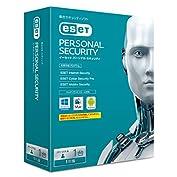 ESET パーソナル セキュリティ (最新版)   1台1年版   Win/Mac/Android対...
