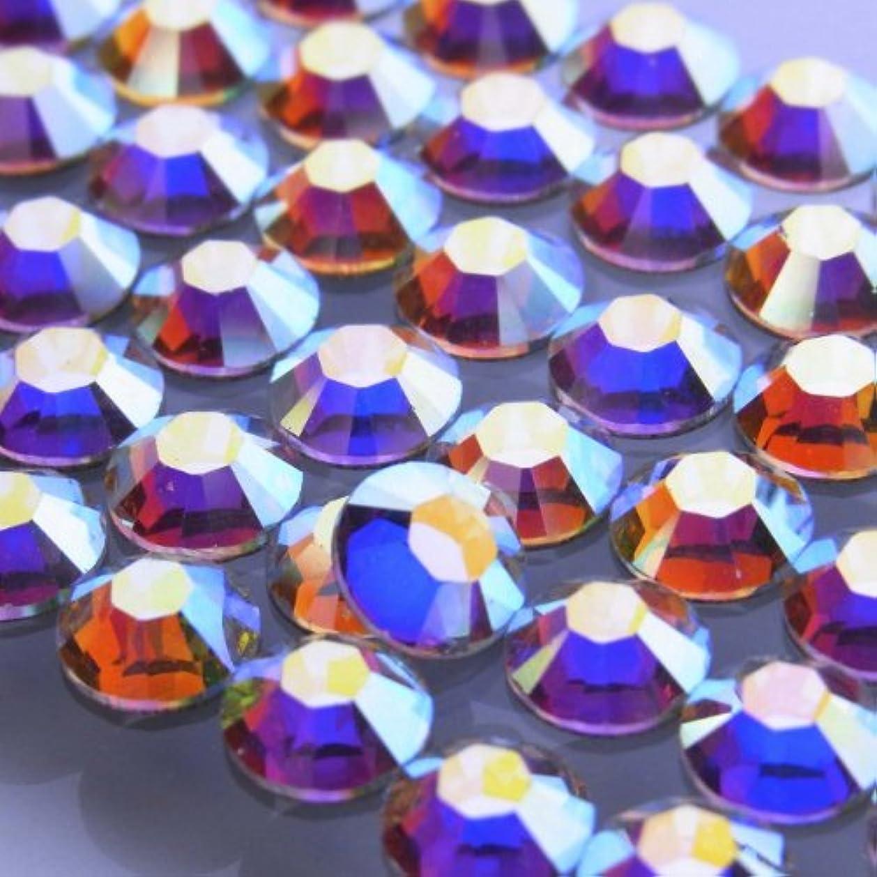 対抗大通り宴会Hotfixクリスタルオーロラss12(50粒入り)スワロフスキーラインストーンホットフィックス