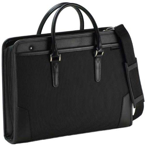 大開きストライプ織ダレスバッグ ビジネスバック メンズ ドクターズバッグ ブリーフケース h22252
