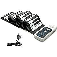 Lujex ハンドロールピアノ ロールアップキーボード ピアノ 88鍵 ハンドロール 電子ロールピアノ 【進化版】