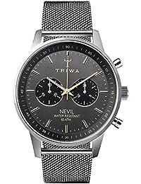 [トリワ]TRIWA メンズ レディース ユニセックス ネヴィル クロノグラフ シルバー メッシュ ステンレス ブラック NEST114-ME021212 腕時計 [並行輸入品]