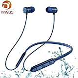 YYWLKJ Bluetooth Earphone,Wireless Earphone,Sports Bluetooth Headset,Mic Stereo Noise Cancelling Waterproof Ear Headphones for Running Gym Yoga - Compatible with Apple, Samsung Mobile Phones (Blue)