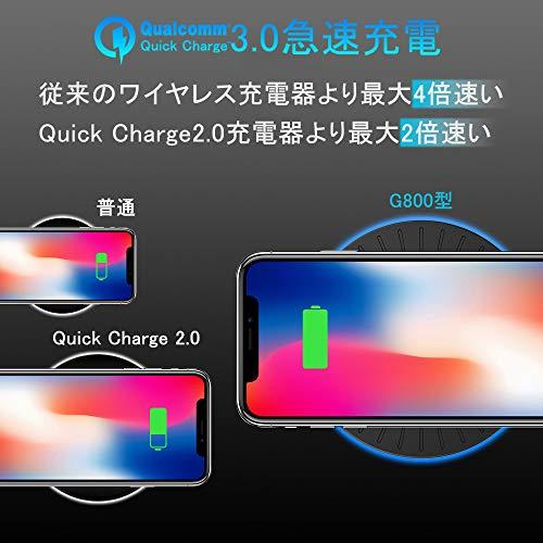 『ワイヤレス充電器xingmeng iPhone X/XS/XR/XS Max/ 8/8 Plus Qi 7.5W急速充電対応 Galaxy S9/S9 Plus/Note8/S8/S8 Plus/S7/S7 Edge/Note 5/S6 Edge Plus 10W対応 Qi認証済み 置くだけ充電 qi 充電器』の2枚目の画像