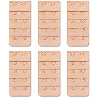 Women Bra Extensions - Bra Extender 2 Hook 1/2 inch Spacing, Pack of 6pcs
