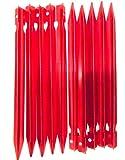 MSP (赤10) テント ペグ 18cm Y型 10本 / 20本 赤 / 青 ジェラルミン タープ 設営 アウトドア キャンプ 用品