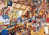 ししゅう糸 DMC糸 クロスステッチ刺繍キット 布地に図柄印刷 屋根裏部屋