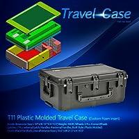 t112.0/ t113.0プラスチック成形Travel Case w /カスタムFoam挿入–フラットブラック