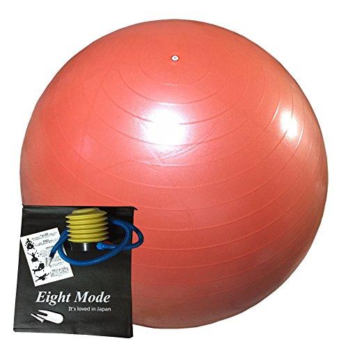 Eight Mode バランスボール 事故激減の新技術採用 選べるサイズとカラー アンチバースト仕様 (オレンジ, 55cm)