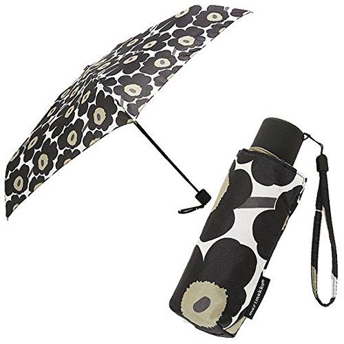 [マリメッコ] 傘 レディース MARIMEKKO 038653 030 ミニ ウニッコ MINI UNIKKO MINI MANUAL 折り畳み傘 BLACK [並行輸入品]