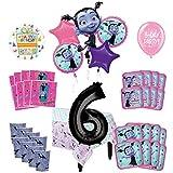 Mayflower Products バンピリーナ 6歳の誕生日パーティー用品 8人のゲストデコレーションキットとバルーンブーケ