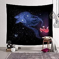 星空の動物のマンダラの装飾美しい壁掛けボヘミアンホームタペストリー、100%ポリエステル3Dデジタル印刷タペストリーの背景布/テーブルクロス/カーテン/ビーチタオル/ビーチショール日焼け止め