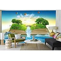 Ansyny カスタム3D写真壁紙リビングルーム壁画本滝森林海写真子供部屋背景壁紙For 3D-130X100CM