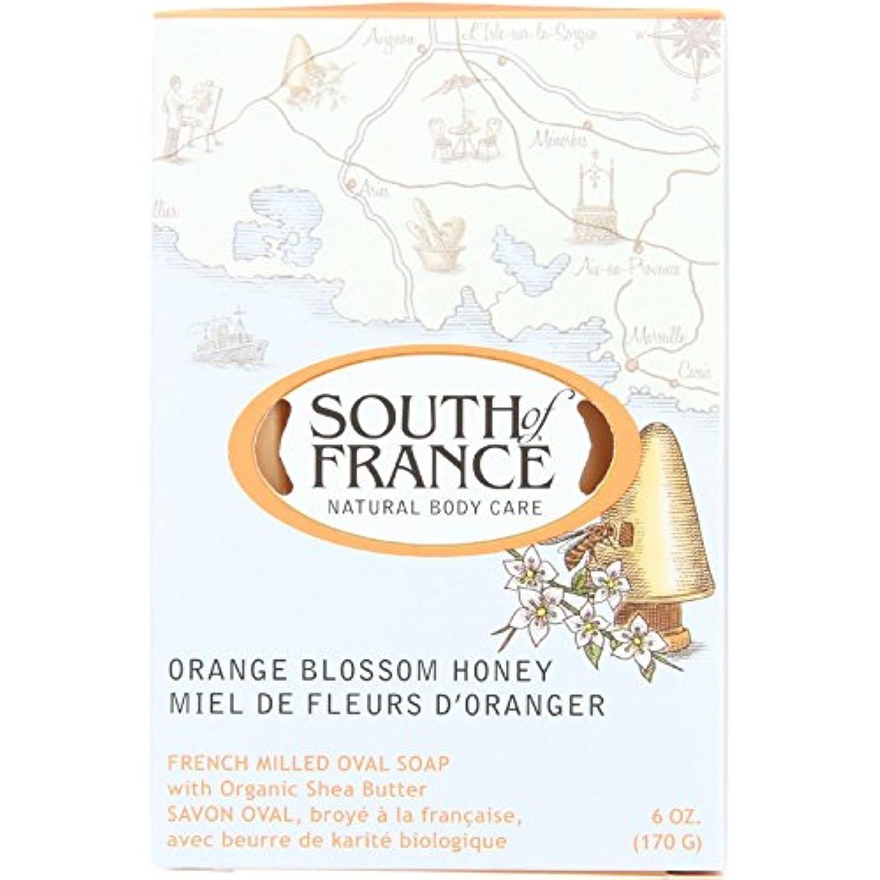 配送知っているに立ち寄るゾーンSouth of France - フランスの製粉された野菜棒石鹸のオレンジ花の蜂蜜 - 6ポンド