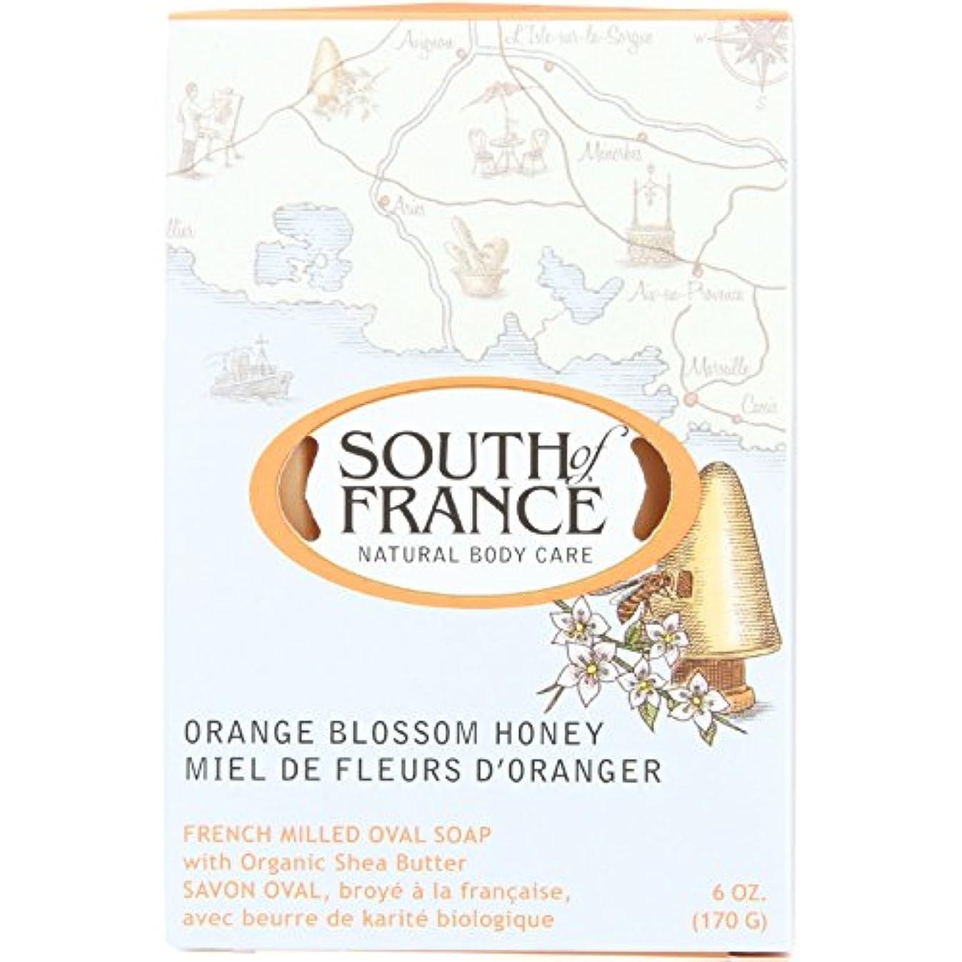 非互換コイルバットSouth of France - フランスの製粉された野菜棒石鹸のオレンジ花の蜂蜜 - 6ポンド