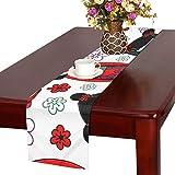 LKCDNG テーブルランナー 素敵 和風の歌舞伎 クロス 食卓カバー 麻綿製 欧米 おしゃれ 16 Inch X 72 Inch (40cm X 182cm) キッチン ダイニング ホーム デコレーション モダン リビング 洗える