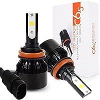 H11 LED 車用 ヘッドライト 電球 キット - Safego 車検対応 6400ルーメン H8 H9 高輝度 COB チップ搭載 LEDバルブ 変換 キット 12v 置き換 車 ハロゲン ライト HID 電球 C6S-H8911