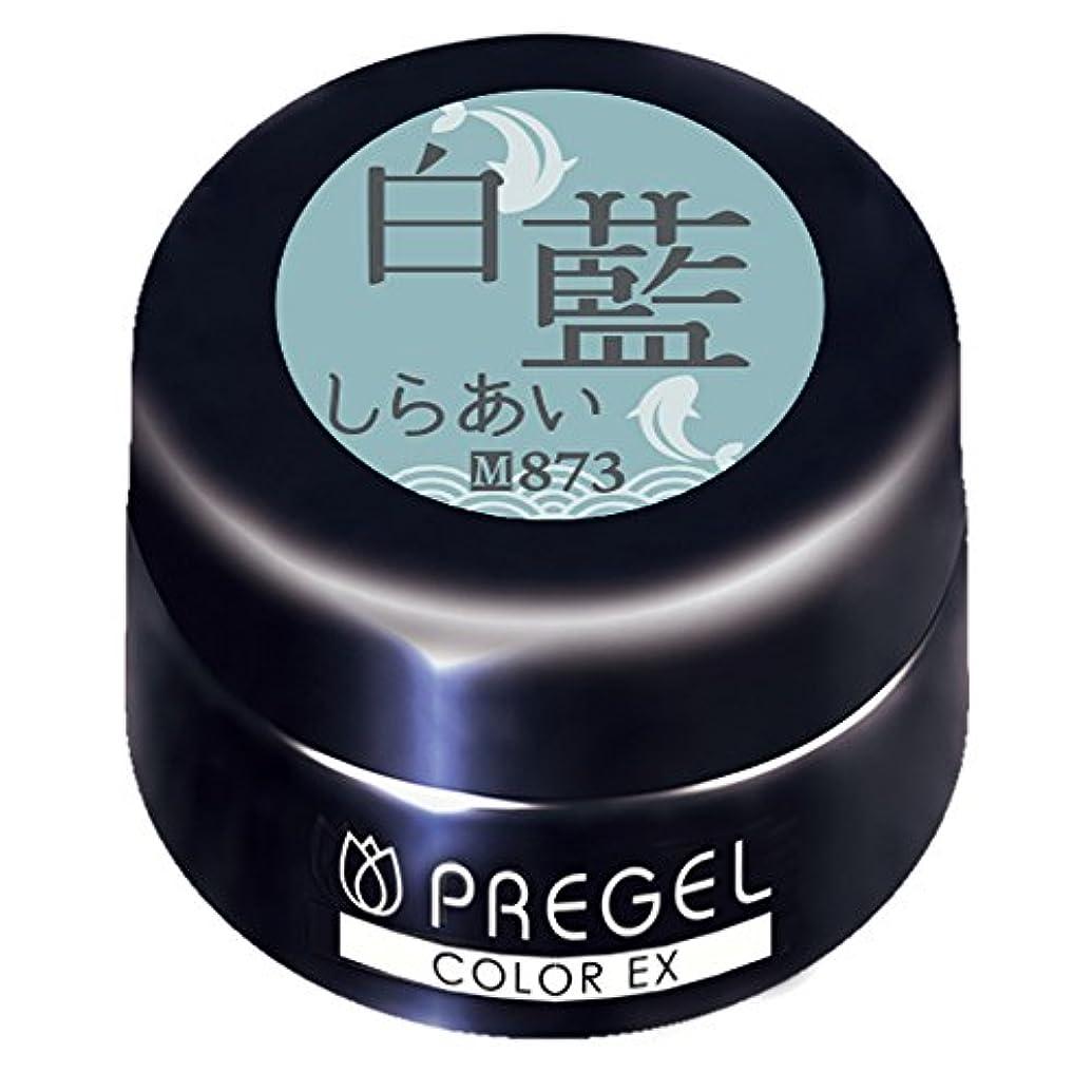 スラム街非常に怒っています無効PRE GEL カラーEX 白藍873 3g UV/LED対応