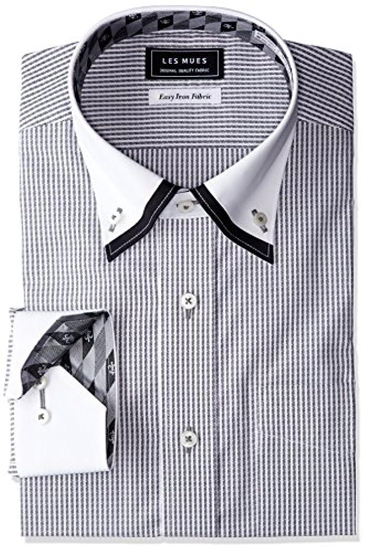 過剰仲介者スクランブル[アオキ]二枚衿シャツ メンズ