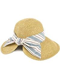 (ディーループ) D-LOOP UV 加工 リボン 付き カプリーヌハット ヘムカット 折り畳み サイズ調整 可能 女優帽 レディース 122594