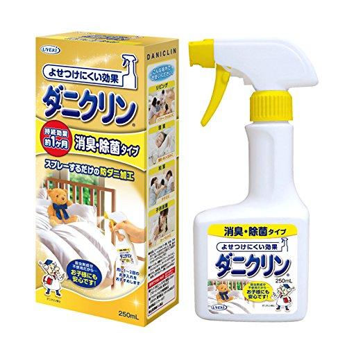 ダニクリン 防ダニ対策スプレー 消臭・除菌タイプ 持続効果約...