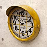 アンティーク クロック サブマリン/イエロー(潜水艦)レトロ調 ビンテージ クロック 壁掛け時計 時計 アメリカン雑貨 アメ雑貨 男前