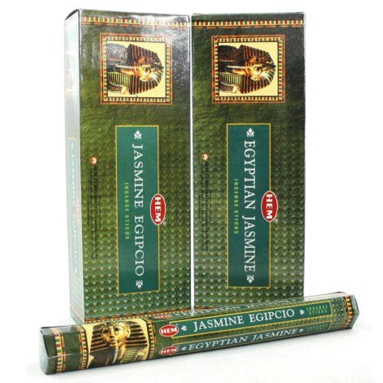 禁じる冷凍庫縮れたHEM エジプシャン ジャスミン香 スティック ヘキサパック(六角) 12箱セット HEM EGYPTIAN JASMINE