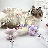 tamagomaki猫じゃらし 人気猫おもちゃ 猫用品 ネコあそび 可愛い ねこ棒 ネズミおもちゃ 猫おもちゃボール フリンジつき 猫ボール