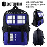 Cosplay Doctor Who Telephone Booth Logo Backpack Schoolbag [並行輸入品]