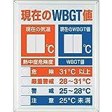 ユニット WBGT値表示板 HO-198 熱中症対策標識