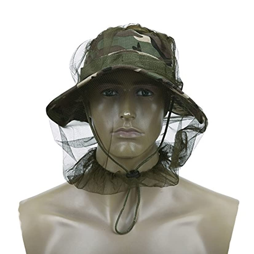 ベッド難しい困惑alloet Anti Mosquitoバグ昆虫メッシュヘッドカバーMosquito Net釣り帽子旅行アウトドアキャンプの