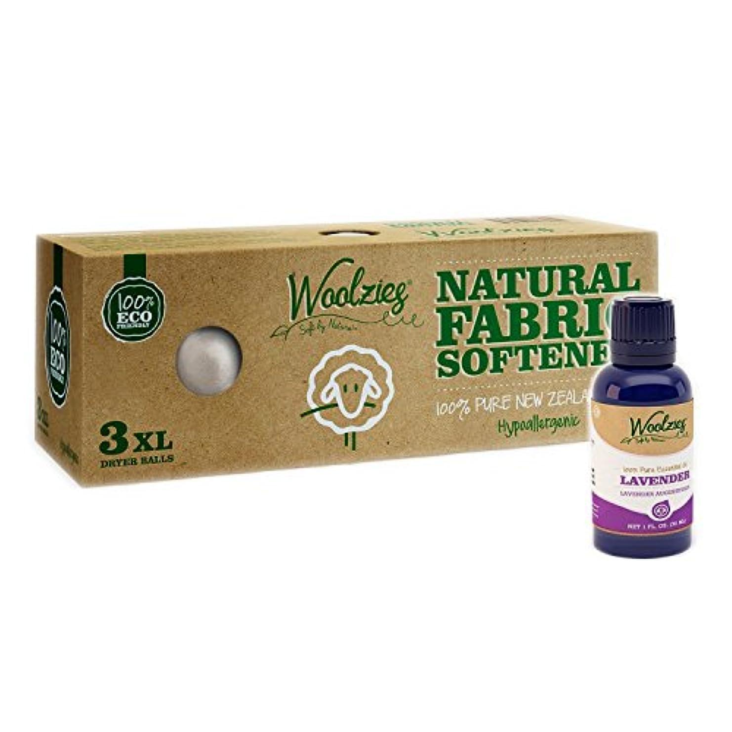 アルネ首告発Woolzies 3 Pack XL Wool Dryer Balls Natural Fabric Laundry Softener + Lavender Pure Essential Oil Combo