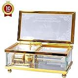 ラッピング済み 誕生日オルゴール 曲目:ハッピーバースデー ガラスボックス 宝石箱