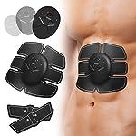OUTAD EMS 筋トレ【新型 強力モデル】 腹筋トレーニング 腹筋ベルト ダイエット/マッサージ用 運動不足に向き 強さ10段階調節 6モード 超薄軽量 静音 コンパクト 電池式 男女兼用