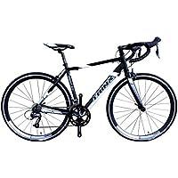 TRINX(トリンクス) 【ロードバイク】デュアルコントロールモデル ShimanoNEWクラリス搭載 Craris シマノ16Speed 軽量 700Cアルミフレーム&アルミフロントフォーク TEMPO3.0 ロードバイクエントリーモデル 3サイズ4カラーバリエーション TEMPO3.0 ブラック/ホワイト 500mm