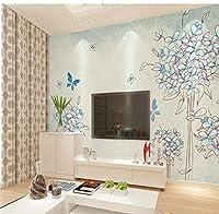 Hanhantang ヴィンテージの葉塗装花壁紙寝室ソファテレビ背景大壁画A-150X120Cm