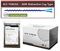【並行輸入】 ACE PDO Thread lift Korea (リフティング糸 / メソン / 漢方病院針 / 鍼 ) / Ultra V-Lift / Face Lift - 3D-360R Bidirection Cog Type / L-Type Blunt needle (20pcs) (23G90) (20G100)