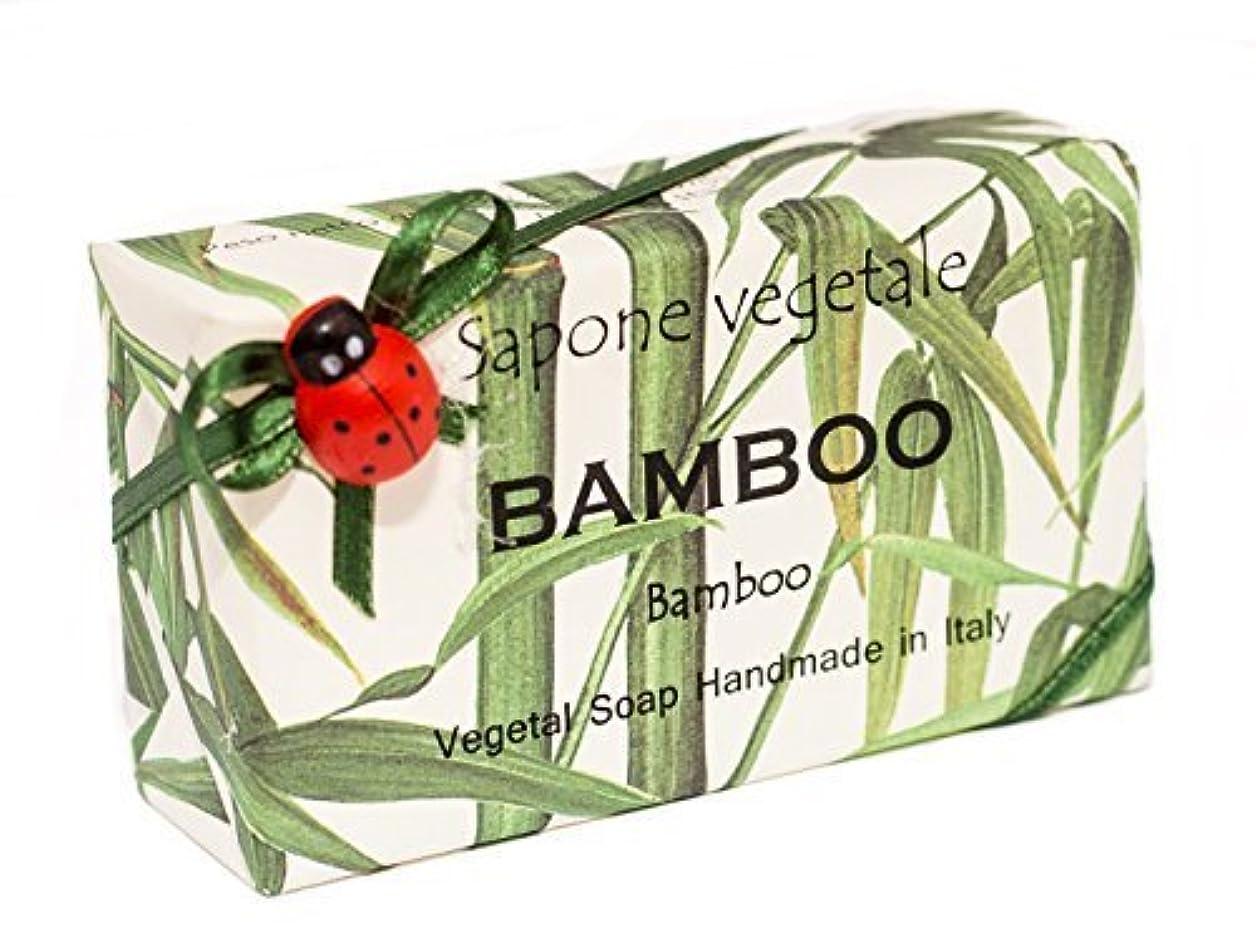 病んでいるバイオレットまだらAlchimia 高級ギフトボックス付きイタリアから竹、野菜手作り石鹸バー、 [並行輸入品]