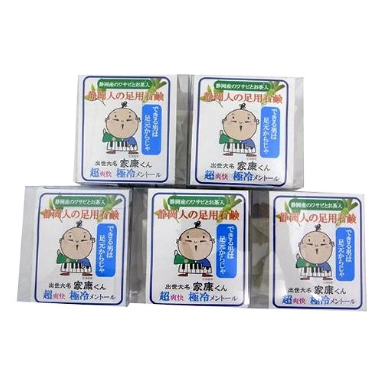 家庭教師ネックレット気楽なエコライフラボ 静岡人の足用石鹸60g (ネット付) 5個セット