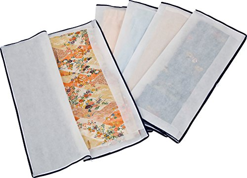 アストロ 着物収納ケース 5枚組 不織布製 3方開きファスナー付き たとう紙より丈夫で通気性に優れた...