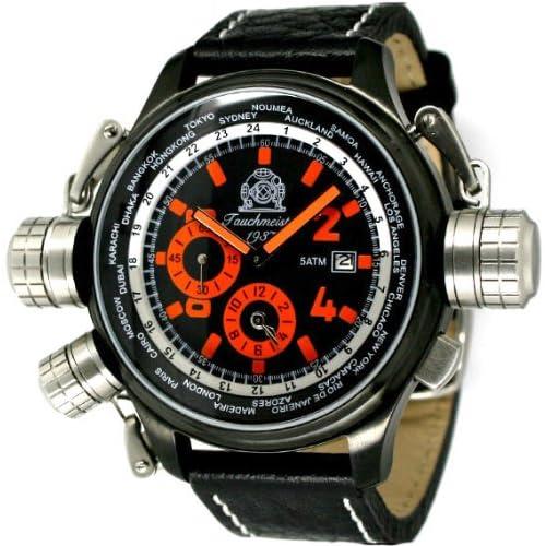 """[トーチマイスター1937]Tauchmeister1937 腕時計 ドイツ製 2戦ドイツ軍用復刻""""ワールドツアー"""" GMTアラーム T0196 (並行輸入品)"""
