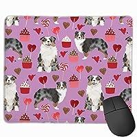 オーストラリアンシェパードドッグバレンタインかわいい愛犬マウスパッド 25 x 30 cm