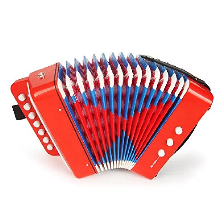 【ノーブランド品】子供用楽器 アコーディオン おもちゃ 知育玩具 子供用 楽器のおもちゃ 誕生日プレゼント 初心者 音が鳴る 可愛い ブルー グリーン ブラック レッド