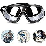 WISTOM Dog Sunglasses Dog Goggles Adjustable Strap for Travel Skiing and Anti-Fog Dog Snow Goggles Pet Goggles for Medium to Large Dog