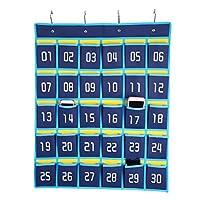 hblife Numbered教室ポケットチャート携帯電話ホルダー壁ドアHanging Organizer 30 Pockets