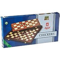 Checkers Set in Folding Wooden Case - 100 Playing Field - 15-1/2'' by Wegiel
