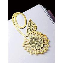 [bookzzi] 金属製ブックマーク 向日葵(ゴールド) しおり steel bookmark golden Sunflower