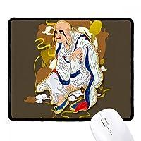 十八羅漢仏教フィギュア ノンスリップパッドゲームオフィスブラックtitchedエッジの贈り物