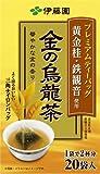 伊藤園 プレミアムティーバッグ 金の烏龍茶 (1.9g×20包)×8個